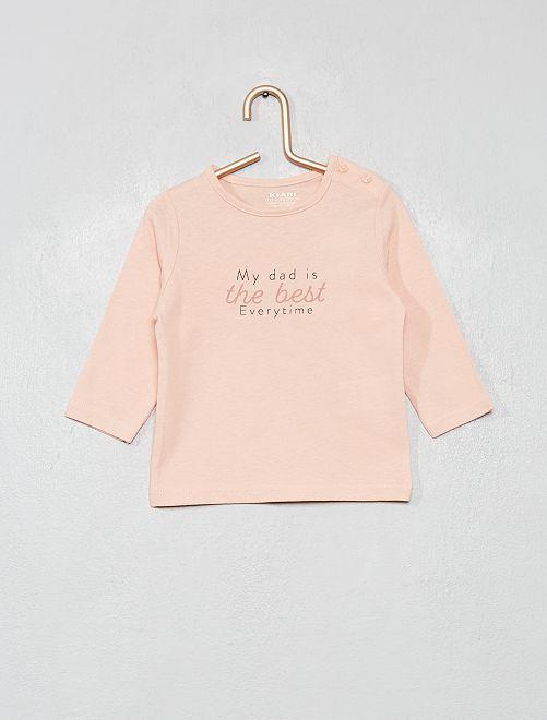 Camiseta con mensaje 'eco-concepción'                                 ROSA