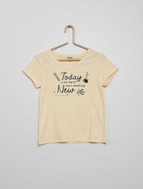 Camiseta con mensaje estampado                             BLANCO