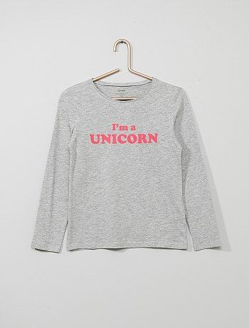 370cfbf8 Camisetas Niña | gris | Kiabi