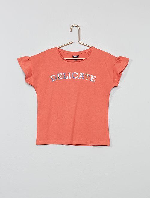 Camiseta con mensaje                     ROSA
