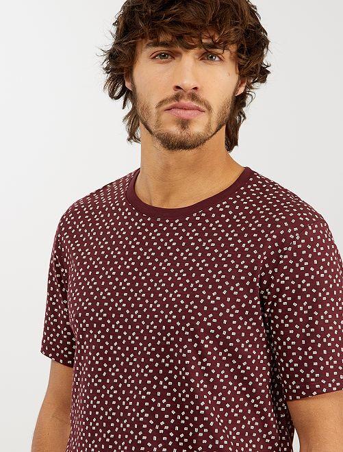 Camiseta con micromotivo 'eco-concepción'                                                                 ROJO