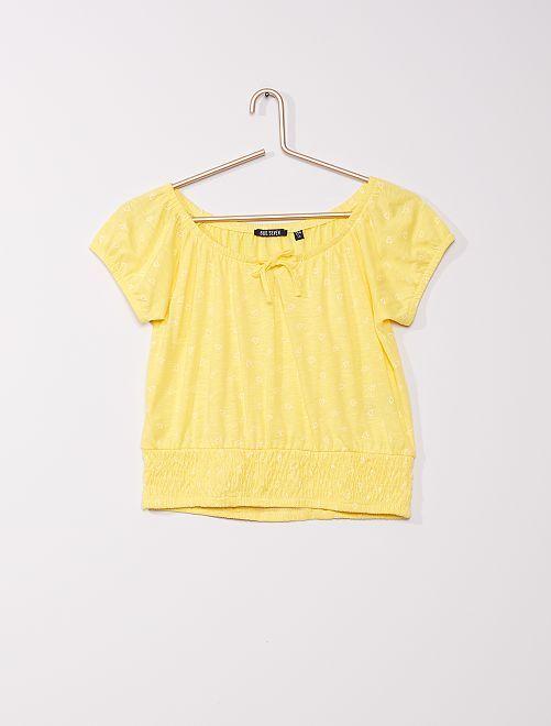 Camiseta con motivos de 'corazones'                                         amarillo