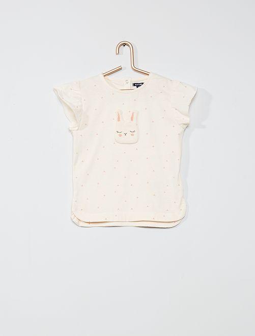 Camiseta con parche 'conejo'                             ROSA