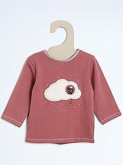 Niña 0-36 meses Camiseta con parche de nube en relieve