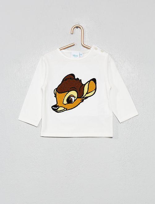 Camiseta con parche de rizo 'Disney'                     BLANCO