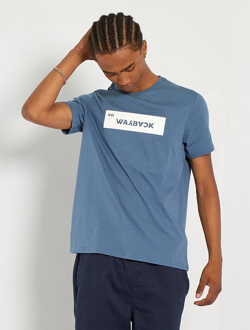 Camiseta con parche en relieve                                                     azul