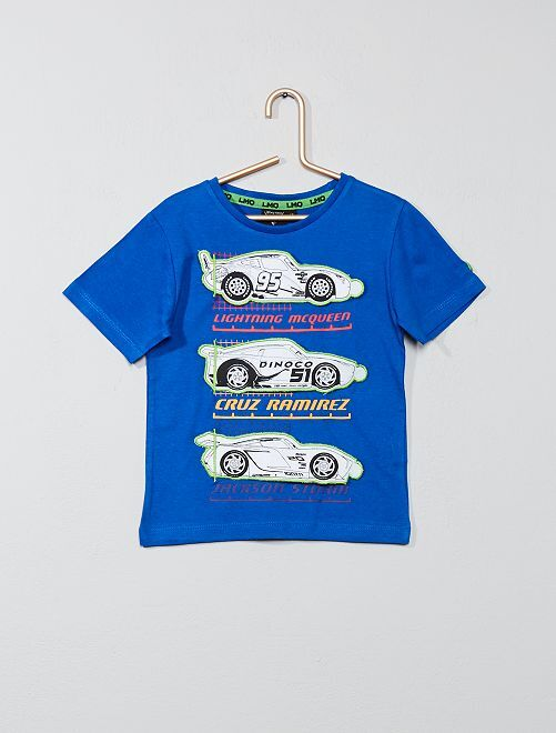 Camiseta con parches 'Cars'                                         azul Chico