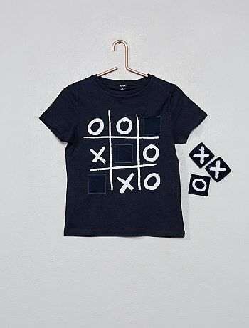 Camiseta con parches desmontables  tres en raya  - Kiabi e3e5b8c010b5