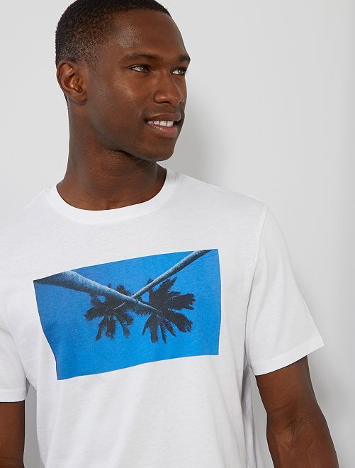 Camiseta con photoprint summer                                                         BLANCO Hombre