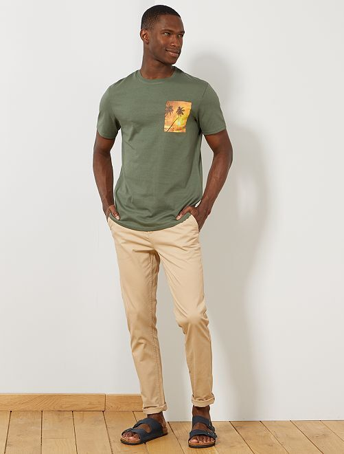Camiseta con photoprint summer                             VERDE