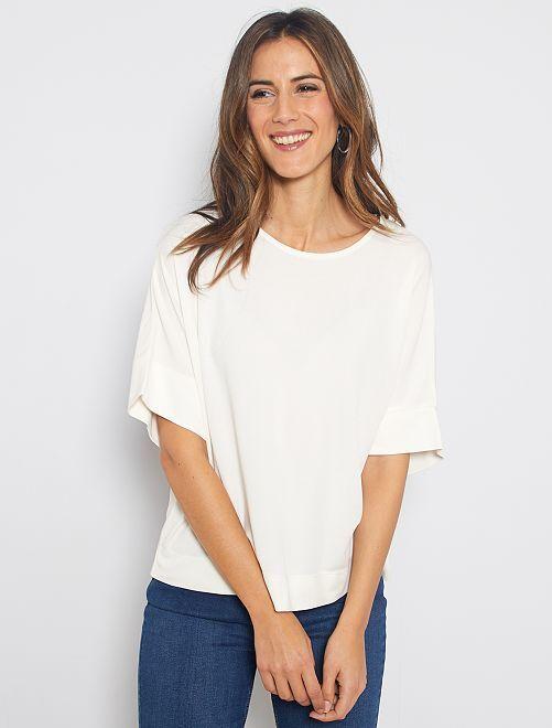 Camiseta con sisas caídas                                                                                                     blanco nieve