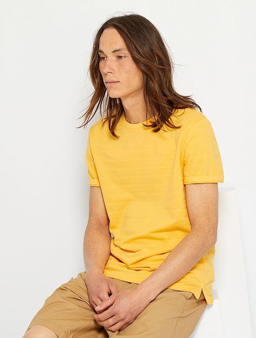 Camiseta con textura eco-concepción                                                         NARANJA