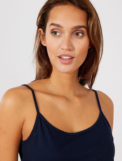 Camiseta con tirantes finos                                                                             AZUL Mujer talla 34 a 48