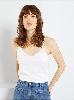 Camisetas - Camiseta con tirantes finos