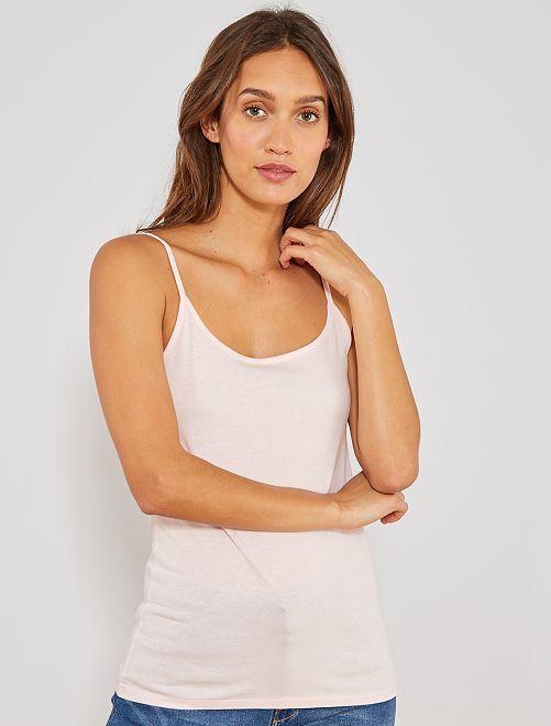 Camiseta con tirantes finos                                                                             ROSA Mujer talla 34 a 48