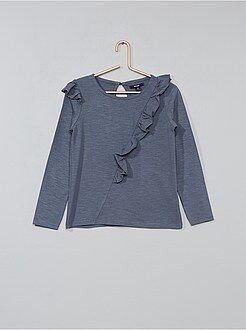 Niña 3-12 años - Camiseta con volantes asimétricos - Kiabi
