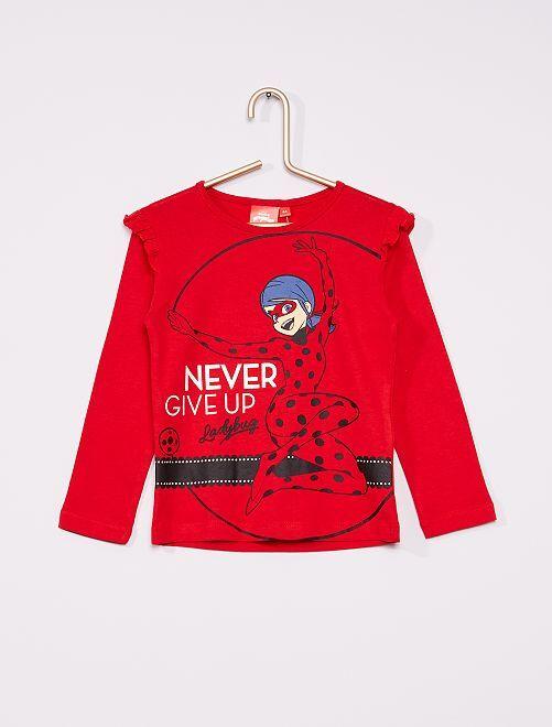 Camiseta con volantes 'Miraculous'                             rojo