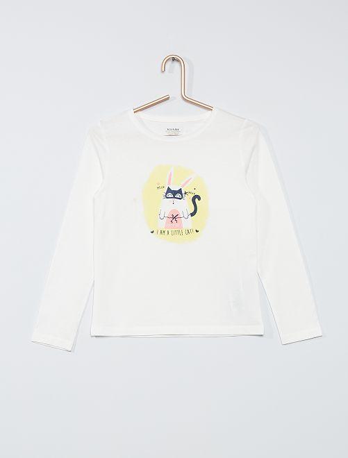 Camiseta 'conejo' eco-concepción                                                                                                     BLANCO