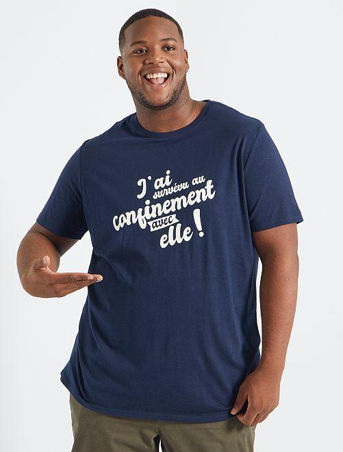 Camiseta 'confinamiento' 'eco-concepción'                                             AZUL