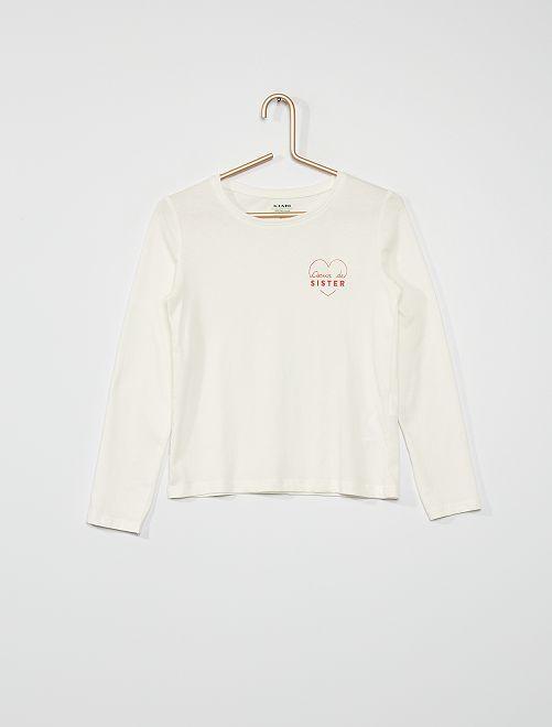 Camiseta 'corazón'                                                                                                                                         BLANCO