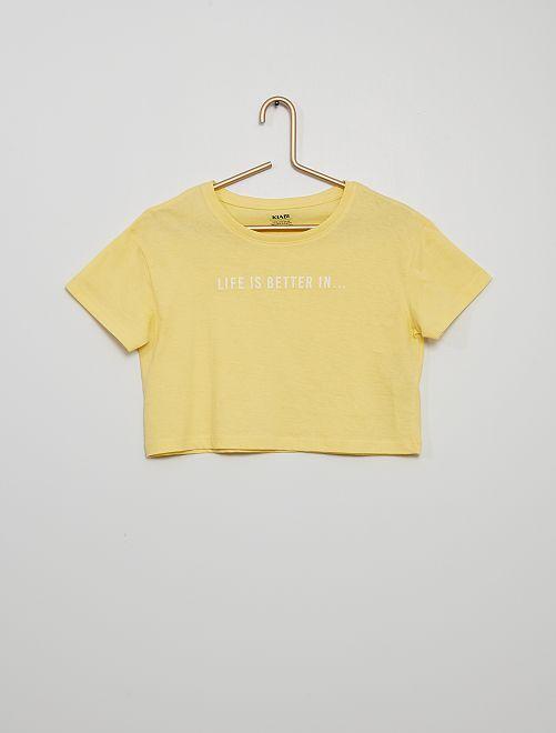 Camiseta crop-top                                                     AMARILLO