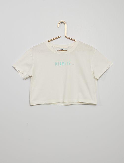 Camiseta crop-top                                                     BLANCO