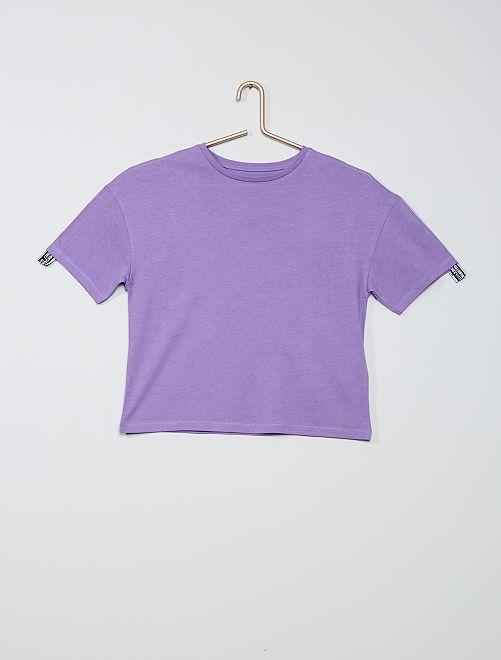 Camiseta cuadrada de algodón puro                                         violeta