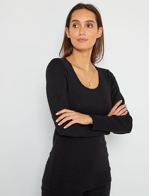 Camiseta 'Damart'                                                     negro