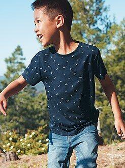 Camisetas, polos - Camiseta de algodón a rayas