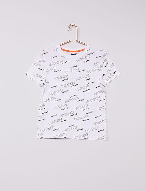 Camiseta de algodón                                         BLANCO