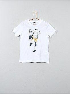Camisetas manga corta - Camiseta de algodón con lentejuelas reversibles - Kiabi