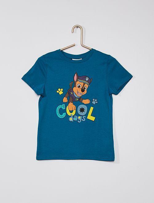 Camiseta de algodón de 'La Patrulla Canina'                             azul