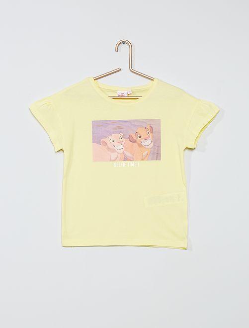 Camiseta de algodón 'Disney'                                                                             AMARILLO