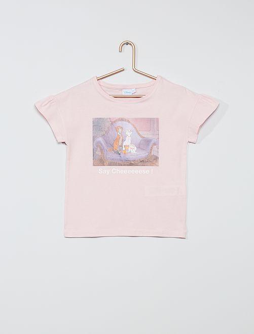 Camiseta de algodón 'Disney'                                             ROSA