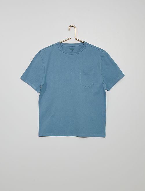 Camiseta de algodón eco-concepción                                                                                                                             azul denim
