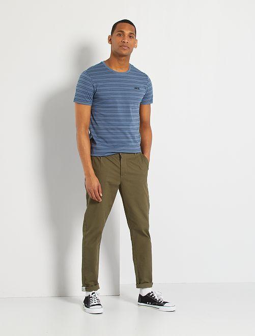 Camiseta de algodón eco-concepción                                                     AZUL