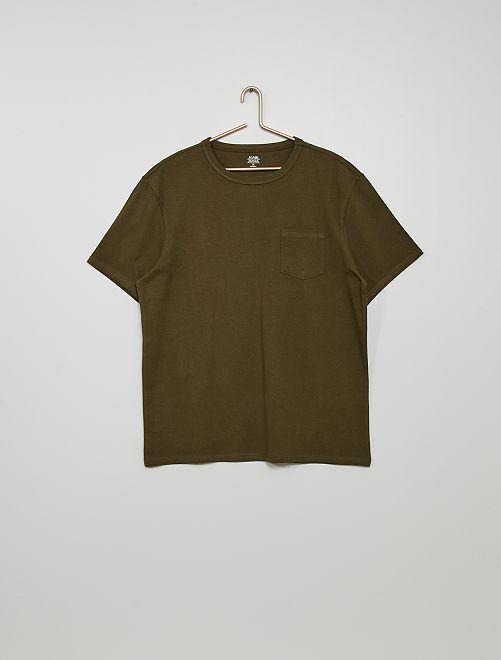 Camiseta de algodón eco-concepción                                                                                                                             KAKI