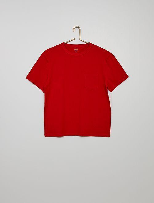 Camiseta de algodón eco-concepción                                                                                                                             rojo bombero