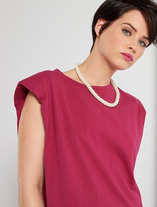 Camiseta de algodón eco-concepción                                         rojo