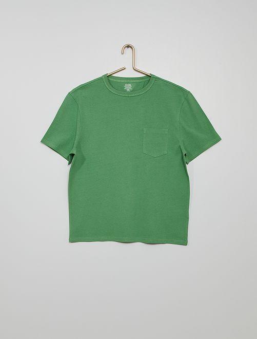 Camiseta de algodón eco-concepción                                                                                                                             VERDE