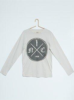 Niño 10-18 años Camiseta de algodón estampada