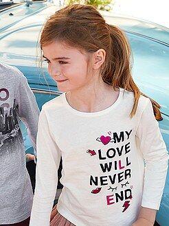 Niña 3-12 años Camiseta de algodón estampada