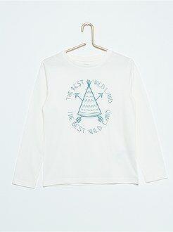 Camisetas, polos - Camiseta de algodón estampada
