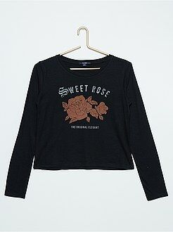 Camiseta de algodón estampada