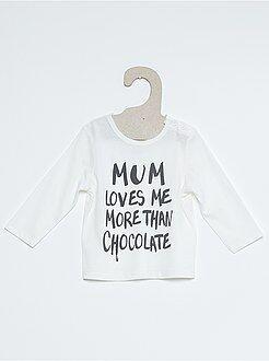 Niño 0-24 meses Camiseta de algodón estampada