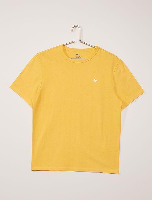 Camiseta de algodón gruesa                                                                                                                 amarillo crema