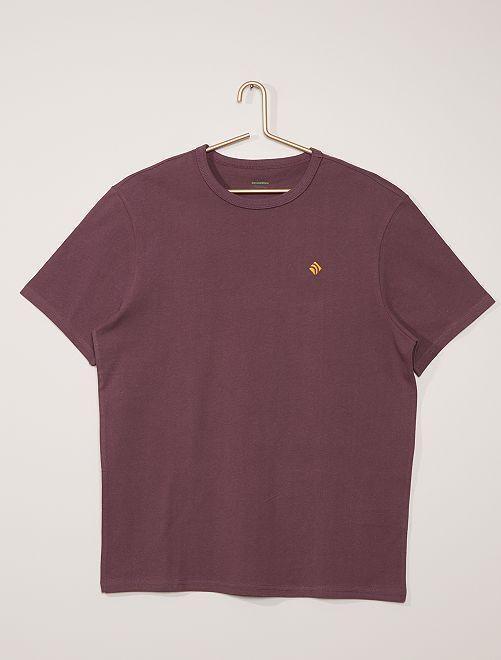 Camiseta de algodón gruesa                                                                                                     ciruela