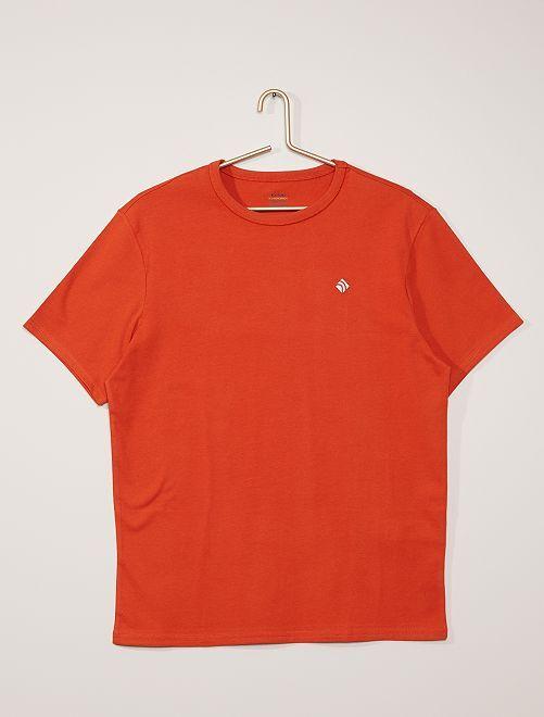 Camiseta de algodón gruesa                                                                                                                 naranja