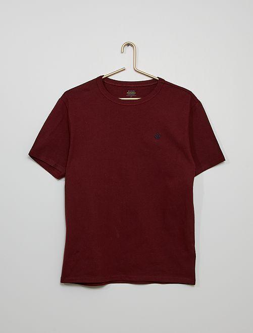 Camiseta de algodón gruesa                                                                                                                 ROJO