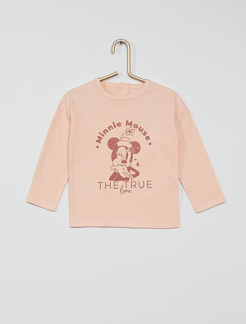 Camiseta de algodón 'Minnie'                                                     ROSA
